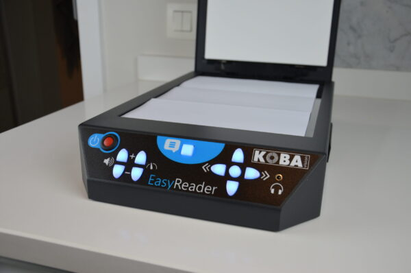 Reading Machine EasyReader with open scanner