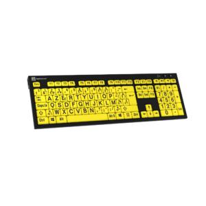 Toetsenbord zwart op geel