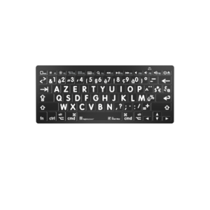 Bluetooth Toetsenbord Wit op Zwart