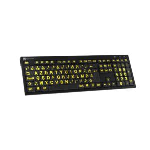 Toetsenbord Geel op Zwart